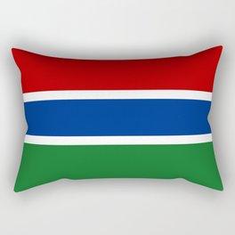 gambia country flag Rectangular Pillow