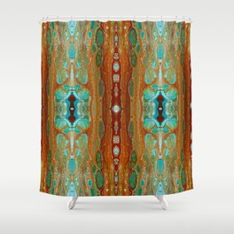 aqua 3 Shower Curtain