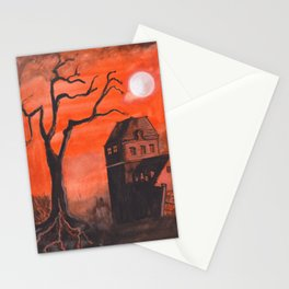 Halloween House Stationery Cards