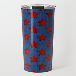 Abstract stars geometric retro seamless pattern background texture Travel Mug