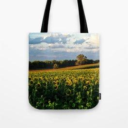 Summer sunflower field Tote Bag