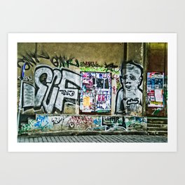 Prague Graffiti #2 Art Print