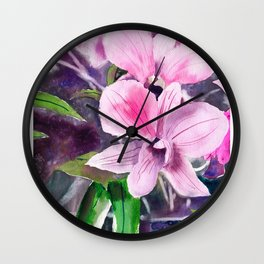 20121005 Marvin's Orchid Wall Clock