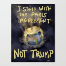 I Stand With The Paris Agreement Canvas Print