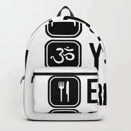 repeat yoga Backpack