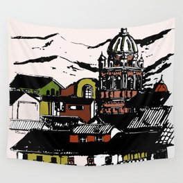 Cuzco - Peru cityview landscape Wall Tapestry