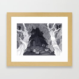 Spooky Little House Framed Art Print