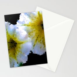 Abstract Petunias Stationery Cards