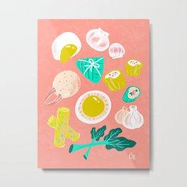 Eat Dim Sum Pink by Cindy Rose Studio Metal Print