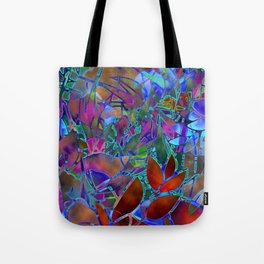 Floral Abstract Stained Glass G174 Tote Bag