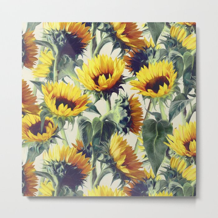 Sunflowers Forever Metal Print