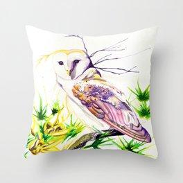Owl Furze Wisdom  Throw Pillow