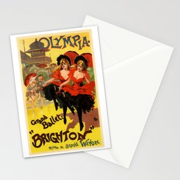 Belle Epoque vintage poster, Olympia, Grand Ballet Stationery Cards