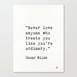 Oscar Wilde quote 50 Canvas Print