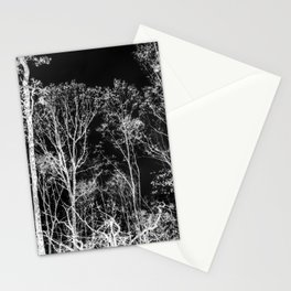 Black and white tree photography - Watercolor series #9 Stationery Cards