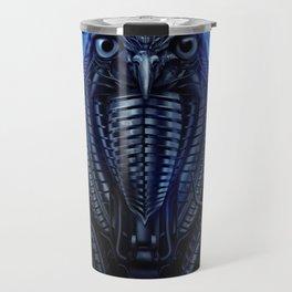 Mechanical Owl - Blue Travel Mug