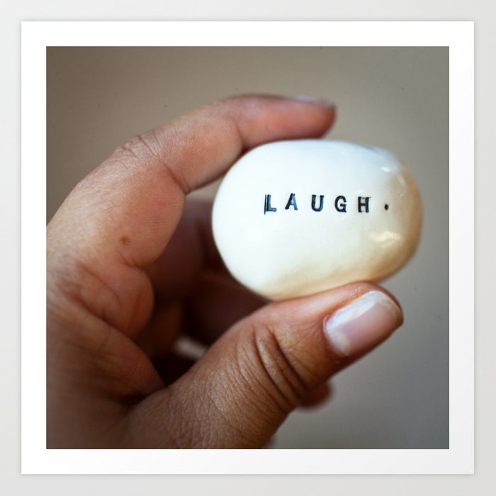Laugh Art Print