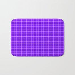 Purple Grid White Line Bath Mat