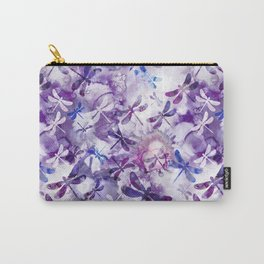 Dragonfly Lullaby in Pantone Ultraviolet Purple Carry-All Pouch