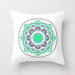 Spring Mandala | Flower Mandhala Throw Pillow