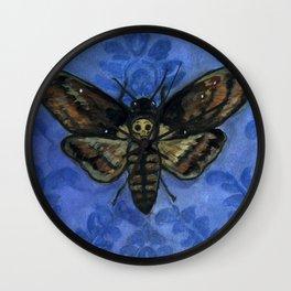 """A Victorian Deaths-Head"", Deaths-Head Hawkmoth Portrait Wall Clock"
