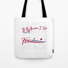 Delaware American Patriotic Memorial Day Tote Bag