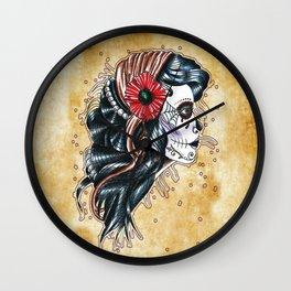 gypsy girl tattoo Wall Clock