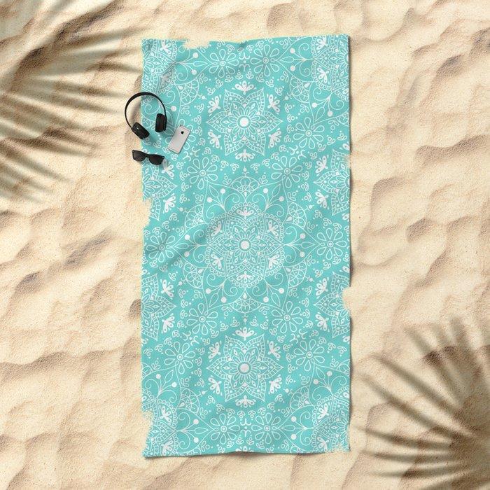 Mandala_Mint Beach Towel