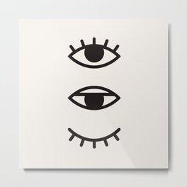 Eye Chart Metal Print