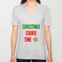 Christmas Cookie Time Merry Christmas Unisex V-Neck