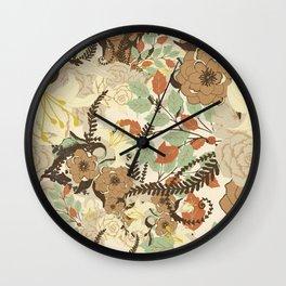 Flowers II Wall Clock
