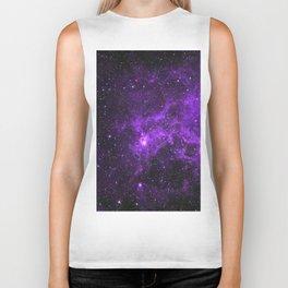 Ultraviolet Space Nebula Biker Tank