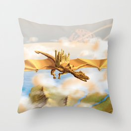 The City Of The Dragon Throw Pillow