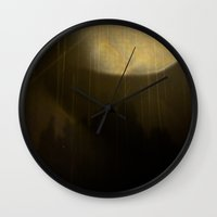 moonrise Wall Clocks featuring Moonrise by Eilidh Morris Art