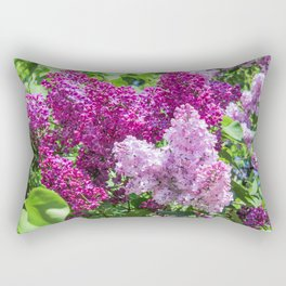 Fragrant lilac bush. Rectangular Pillow