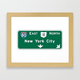 New York City Interstate 80 Sign Framed Art Print