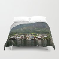 norway Duvet Covers featuring Norway by Michelle McConnell