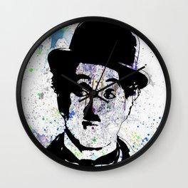 Charlie Chaplin-Watercolor Wall Clock