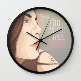 Too Much Pipo Wall Clock