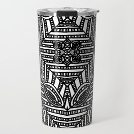 Tile Design Achromatic Travel Mug