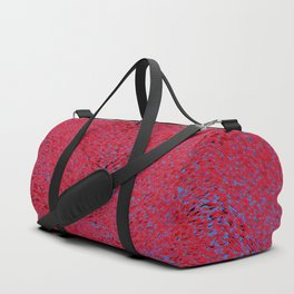 quantum waves, red blue Duffle Bag