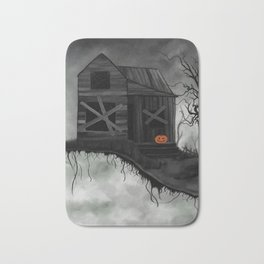 Haunted House and Jolly Pumpkin Bath Mat