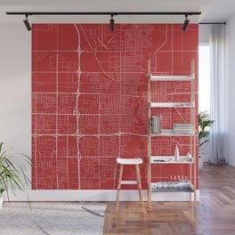 Fargo Map, USA - Red Wall Mural