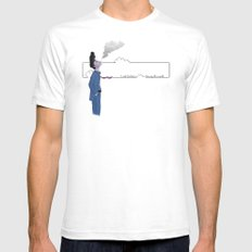 Slipping Away White SMALL Mens Fitted Tee