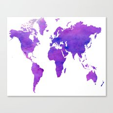Purple Map Canvas Print