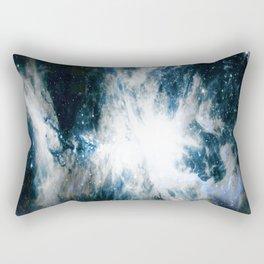 Orion Nebula Blue & Gray Rectangular Pillow