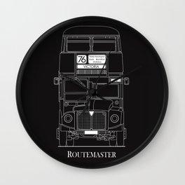 The Routemaster London Bus Blueprint Wall Clock