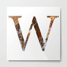 "Initial letter ""W"" Metal Print"