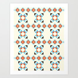 geometry navajo pattern no2 Art Print