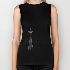 Seattle by Friztin Biker Tank
